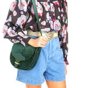 NWT$590 Isabel Marant Botsy Calfskin Suede Bag
